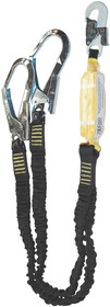DOUBLE ELASTICATED LANYARD - SCAFFPRO - WITH SNAPHOOK AND SCAFFOLD HOOK