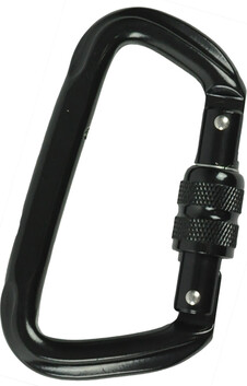 HIGH STRENGTH D CARABINER  - NYX - BLACK